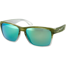 Rudy Project Spinhawk Okulary rowerowe, green streaked matte - polar 3fx hdr multilaser green
